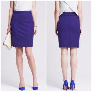 NWT Banana Republic Sloan Pencil Skirt 2 purple